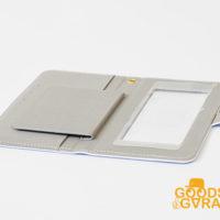 粘着パッドタイプ 手帳型ケース ミラー付き SPC22