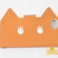 猫型 手帳タイプiPhoneケース SPC24